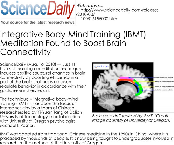 Integrative Body Mind Training (IBMT)®